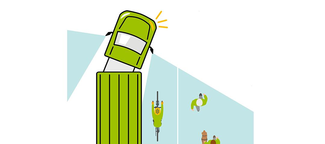 Gefahr: Viele Unfälle beim Abbiegen