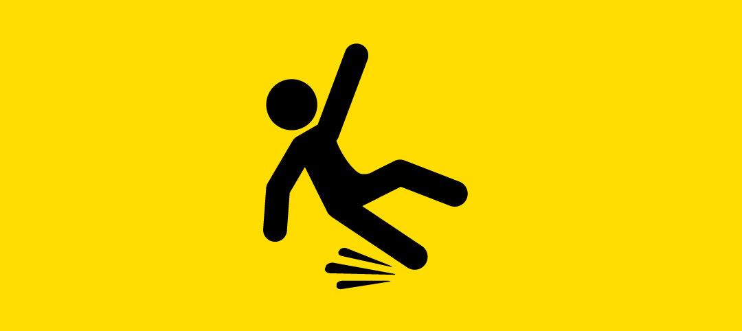 Unfälle durch Stolpern, Ausrutschen oder Stürzen