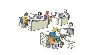 Lärmquellen im Büro