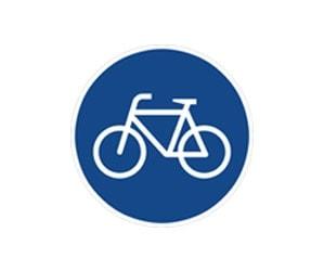Verkehrs-Schilder für Rad-Wege