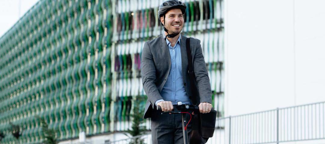 E-Scooter im Betrieb: Leise und sicher