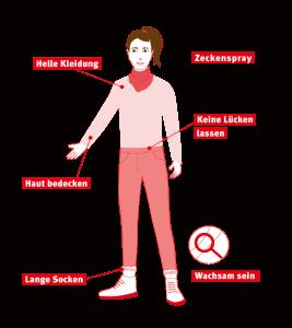 Illustration: Präventiv gegen Zeckenstiche vorgehen