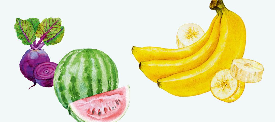 Obst und Gemüse: der sommerliche Pausensnack